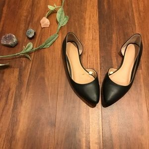 Mossimo | Black Pointed D'Orsay Flats